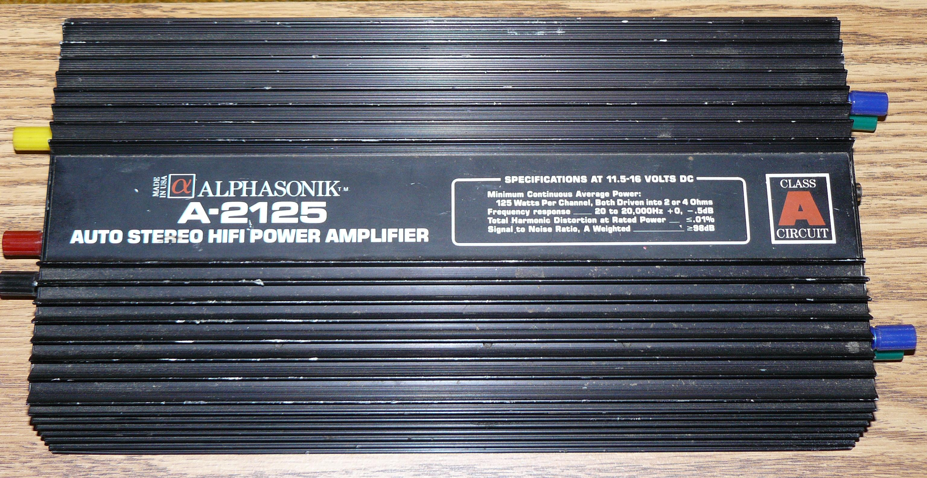 Car Audio Amps By Nelson Pass